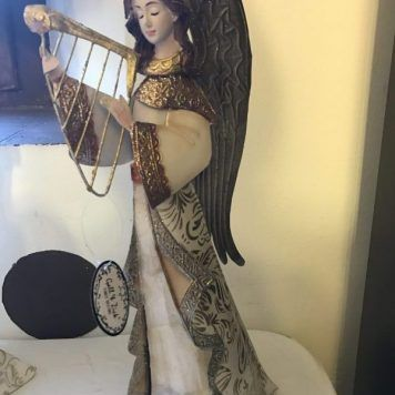 angel creativo musical arpa